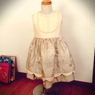 七五三 帯で作るドレス 90センチ製作中